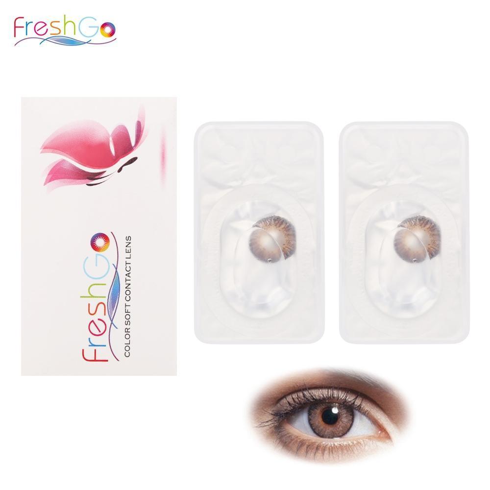 2363eafb23a29 FreshGo anual 12 desechables Color pupila Magic lentes de contacto ...