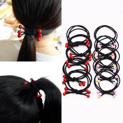 Knotted black rubber band cute little rubber band hair hair rope headdress