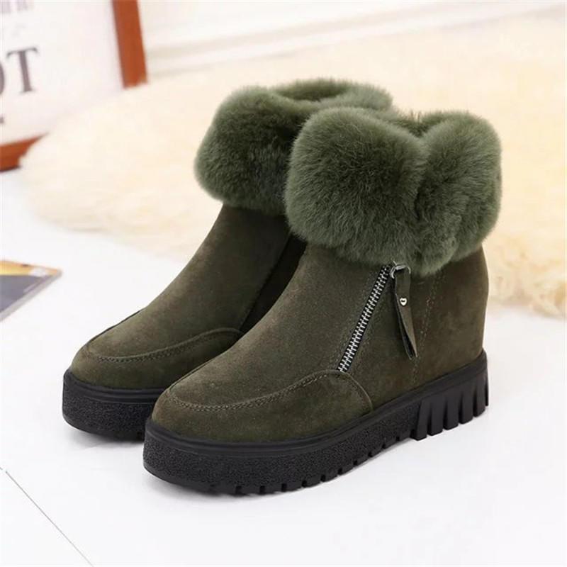 Казуальные игры Зимняя обувь женская замша сгущаться Теплый снег сапоги – купить по низким ценам в интернет-магазине Joom