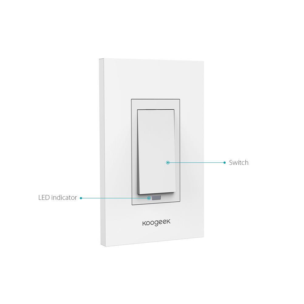 Wi-Fi-Koogeek Smart Lichtschalter arbeitet mit Apple HomeKit ...