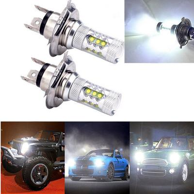 2pcs H1 80W 6000K CREE LED Headlight Headlamp Bulbs Car Fog Tail DRL Light