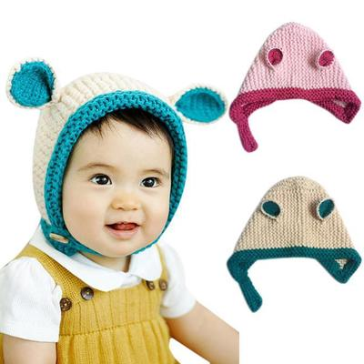 c533f11bb36 New Arrival Knitted rabbit ears ear cap Baby Cartoon Hats Baby Hats Hat  Winter Autumn