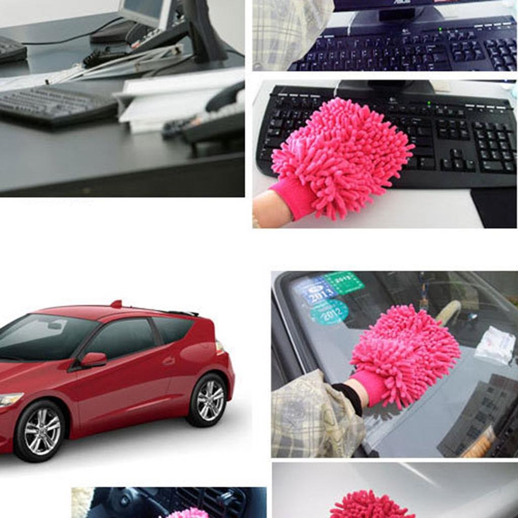 Chenille Superfine Fiber Single-Sided Cleaning Car Gloves Cleaning Rag Multi Color Sponges & Mitts Exterior Care