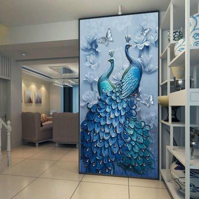 40x70 5D Peacock Diamond Painting Full Rhinestone Embroidery  Mosaic Cross Stitch Home Decor Home Entertainment