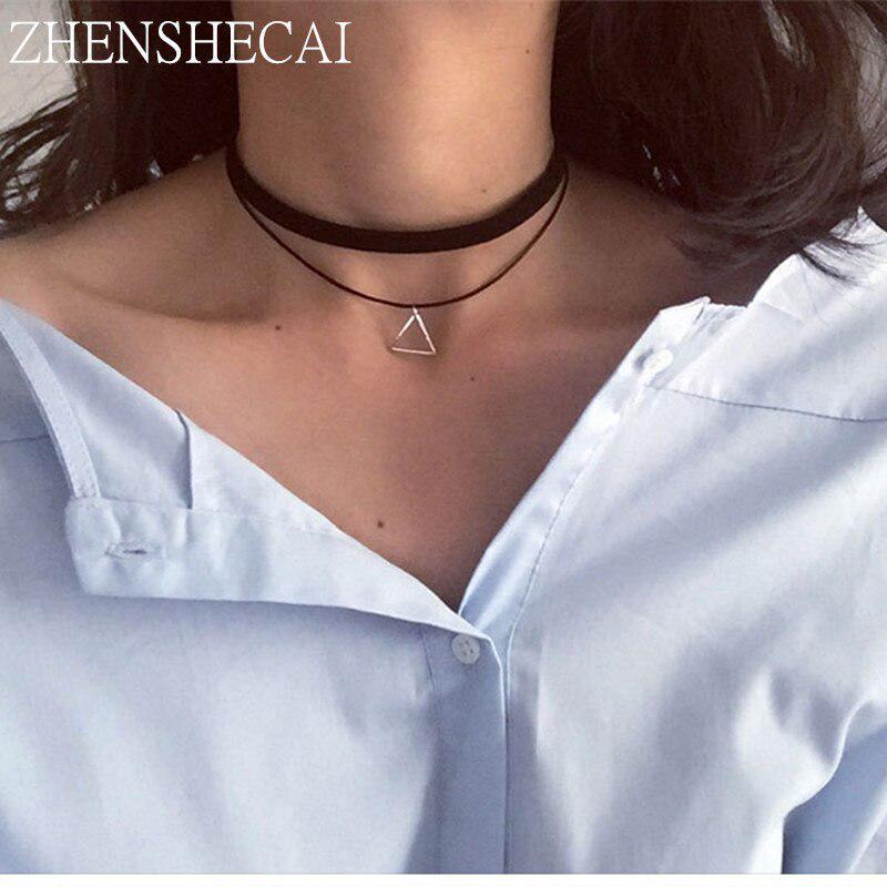 Мода заявление ожерелье простой кулон готический колье колье фото