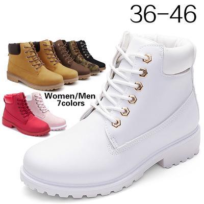 mejor selección 374e9 95108 De las mujeres / encaje de los hombres Retro tobillo botas trabajo al aire  libre impermeable Martin botas talla 36-46