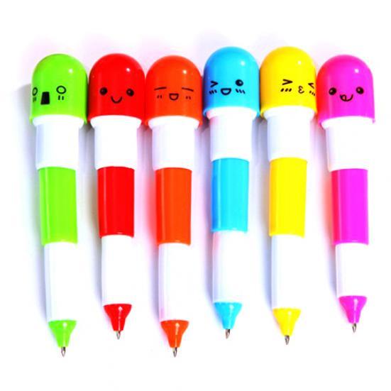 bunte kreative schulbedarf süß pille ballpen kugelschreiber kapsel schreiben