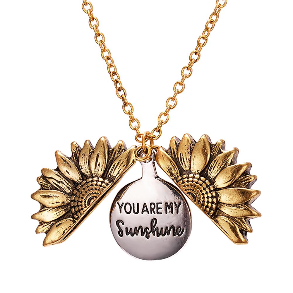 Cute Cat Word Love Star Charm Gold Metal Flower Shaped Floating Memory Locket