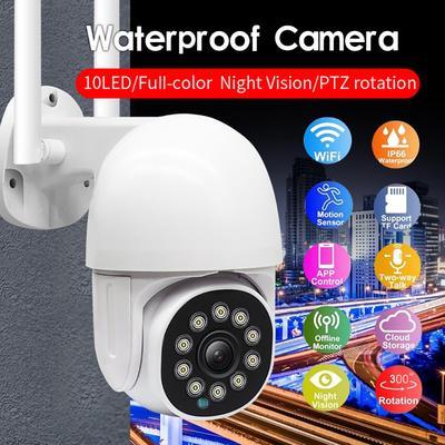 IP Security Camera HD PTZ Wireless Outdoor Security Camera Wifi Outdoor Waterproof Night Vision Surveillance Cameras Cctv Camera Monitor Camera