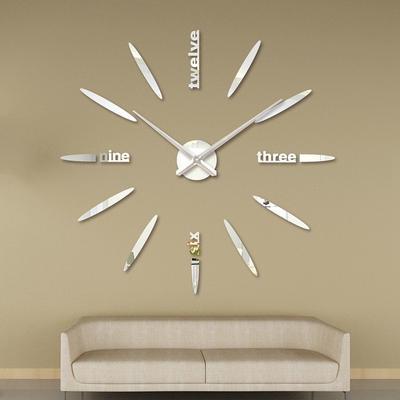 Modern DIY 3D Digital Wall Stickers Mirror Clocks Art Decoration