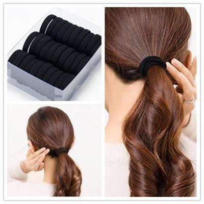 6Pcs Clear Elastic Rubber Hair Ties Hairband Spiral Slinky Rope HairBand New