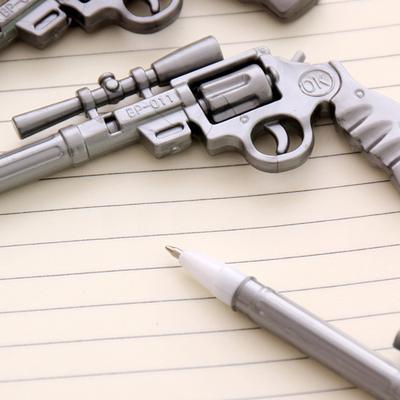 Revolver Gun Shape Black Gel Ink Pen 0 5mm Ballpoint Cute