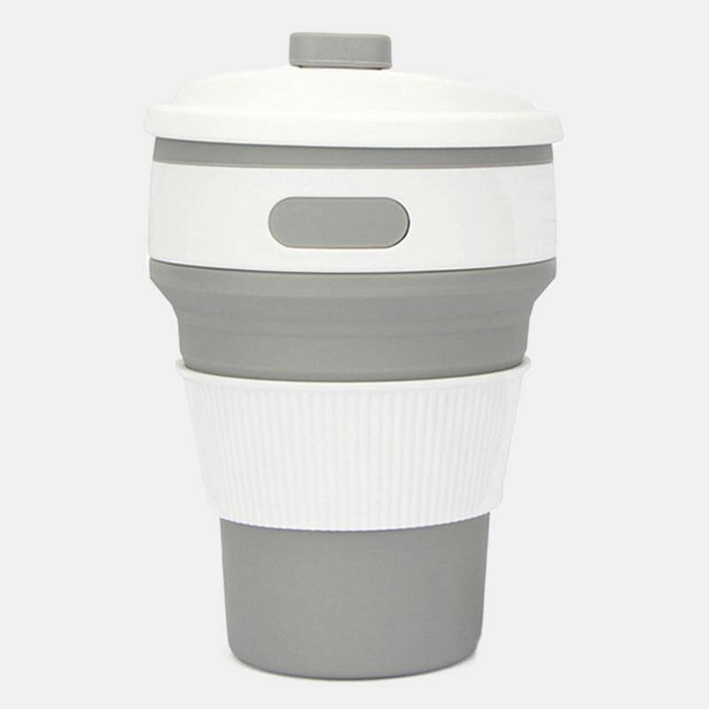 350 ml Folding Collapsible Coffee Cup Silicone Outdoor Travel Portable Reusable