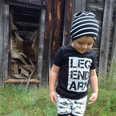 2Pcs Baby Boy Cotton Set Short Sleeve Letter T-Shirt Shark Shorts Pant Outfit