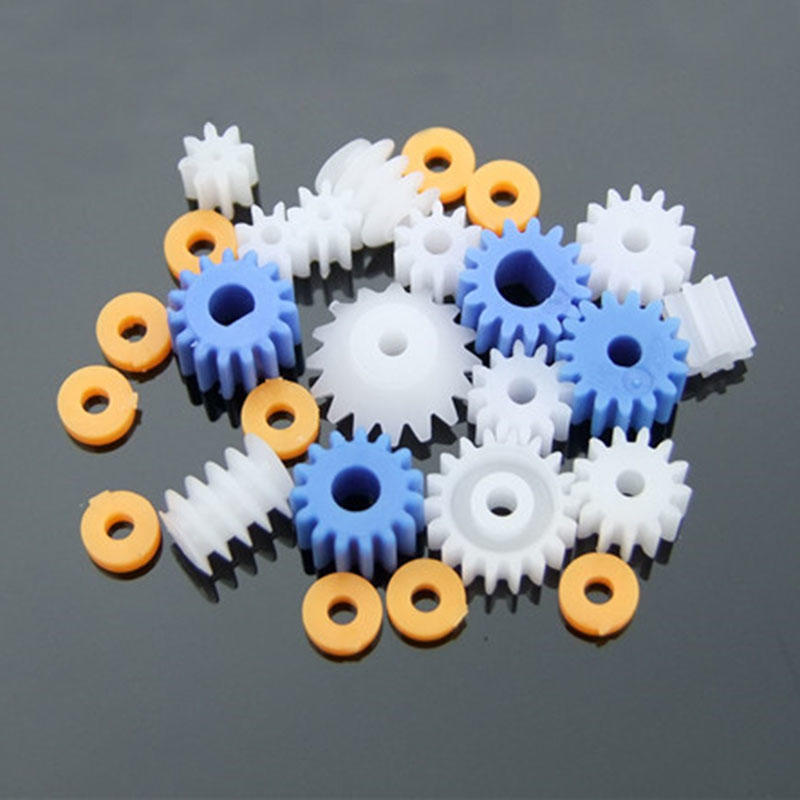 64 Kinds Plastic Gears Pulley Belt Worm Kits Crown Gear Set Robot Motor Toy DIY Parts