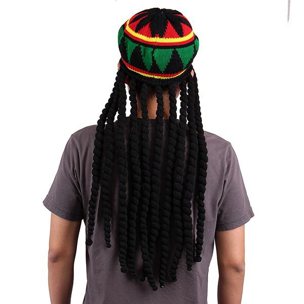 Bob Marley Reggae jamaikanischer Rasta Mütze Dreadlocks Perücke ...
