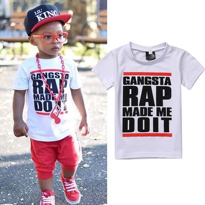 Toddler Boys Girls Kids Funny Graphic Well Crap Black T Shirt Cotton Tee Summer Tops