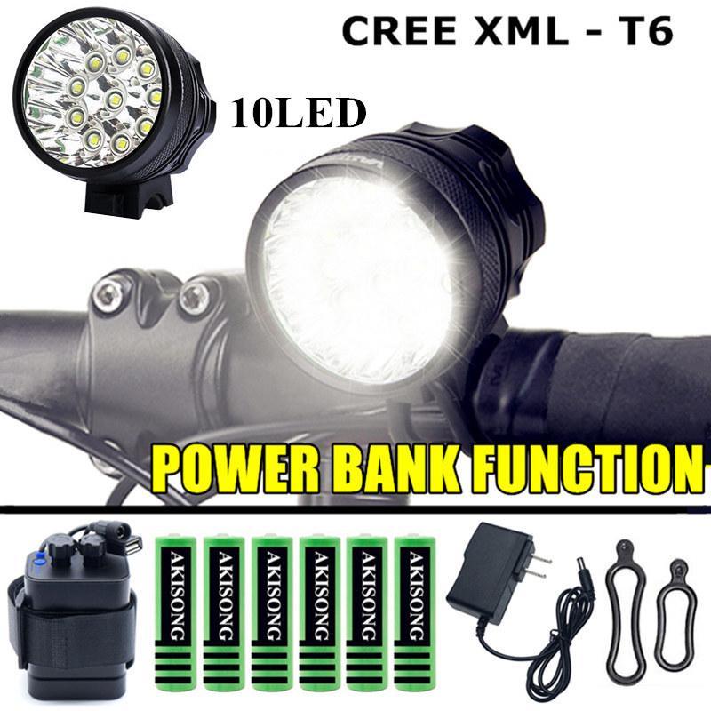 Waterproof USB XM L2//T6 LED Headlamp Flashlight BikeLight 18650 RechargeableJKJK
