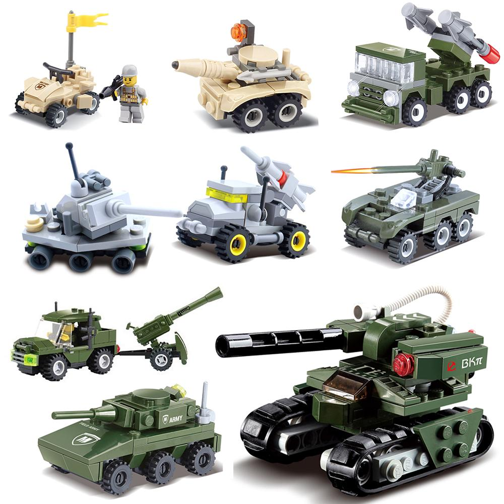 Enlighten Military Building block Stacking Toy Army Jeep Sniper Weapon UN Force