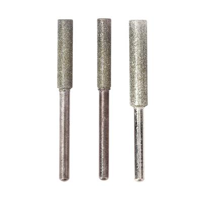 10Stück Schleifwerkzeug 10mmDurchmesser Zylinder geformter Kopf Diamant Schleif