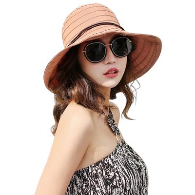 426856a9332 Ladies Womens Cotton Wide Brim Sun Hat Summer Beach Holiday Floppy Cap  Packable