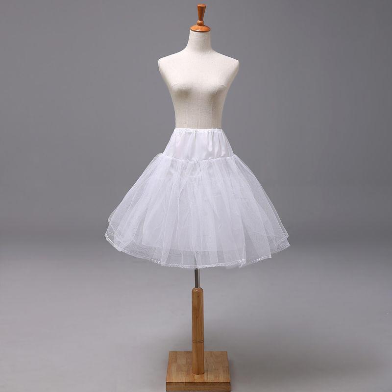 Girls Hoopless 3 Layers Petticoat Underskirt Crinoline Slip for Wedding Dress