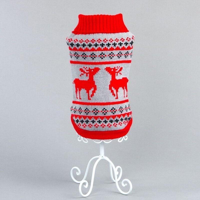 Ciervos de la Navidad perros caliente suéter ropa cachorro gato capa ...