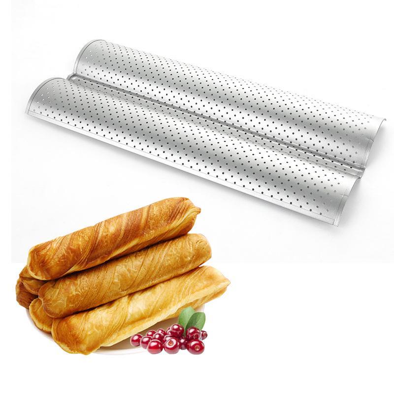 Chicago Metallic Commercial II Aluminium Non-Stick Perforated French Bread Tin