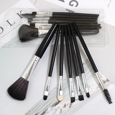 7pcs Makeup Brushes Set Plastic Handle Eyebrow Brush Beauty Foundation Eye Shadow Brushes