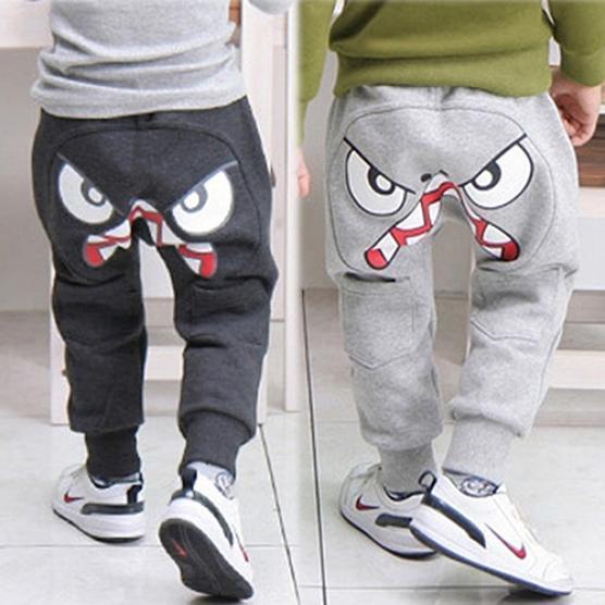 Novel Baby Clothes,Toddler Infant Newborn Boys Girls Cartoon Shark Big Tongue Harem Pants Trousers Outfits