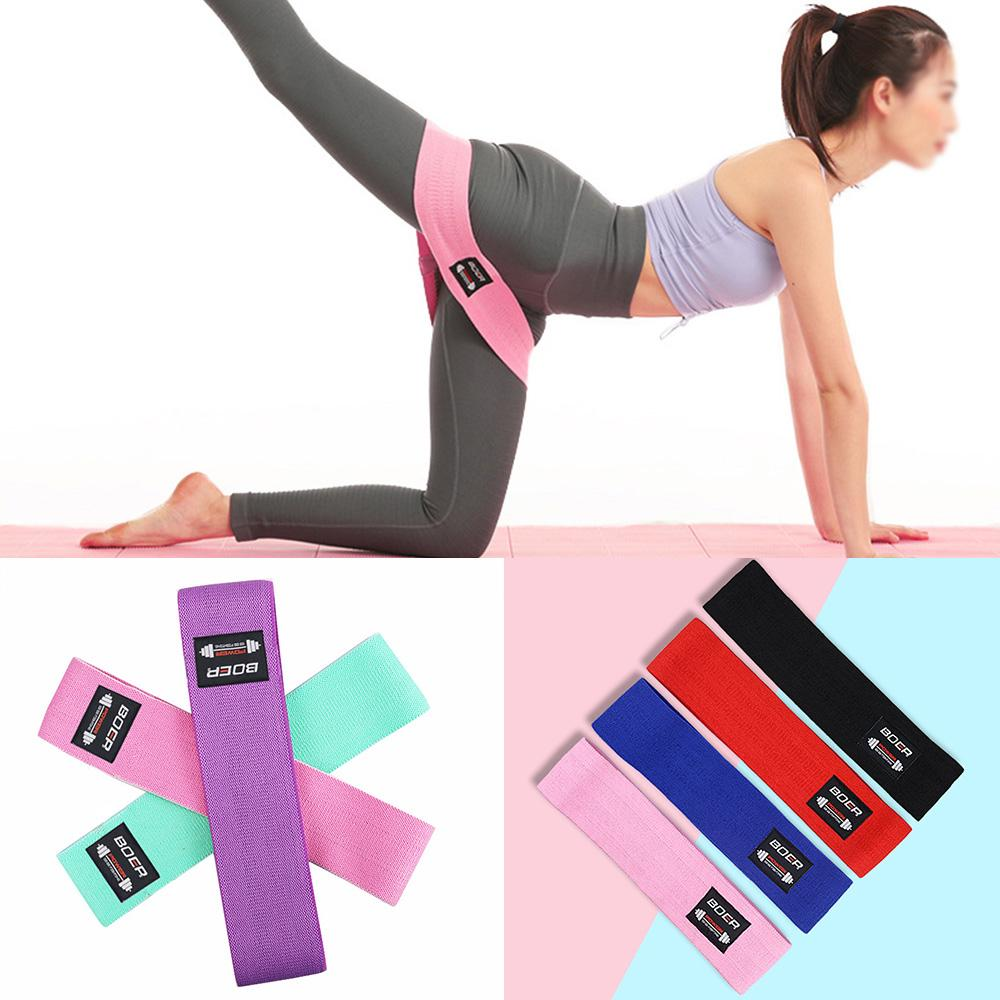 Resistance Bands Loop Set Exercise Workout Home Gym Fitness Glute Leg Butts Yoga