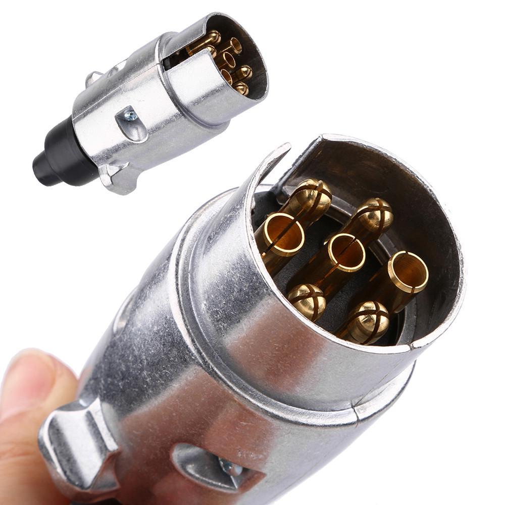7 pin enchufe y zócalo de remolque de coche Caravana cableado Luces De Remolque De 12v De Plástico 12n Nuevo