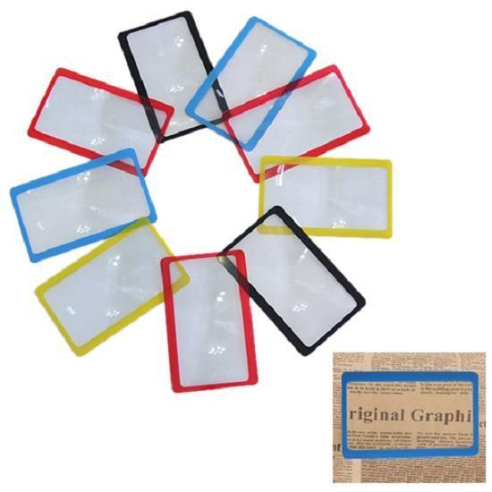 Инструменты Трехкратное увеличительное стекло в виде карточки для чтения газет книг【Не более 1 товара на человека】 (Фото 1)