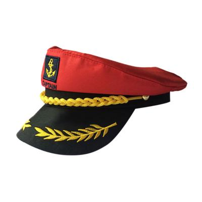 White Adult Yacht Boat Captain Navy Cap Costume Party