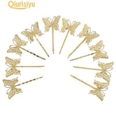 10x Vintage DIY Hair  Pin Barrettes Grips Slides Hair Accessories Butterfly