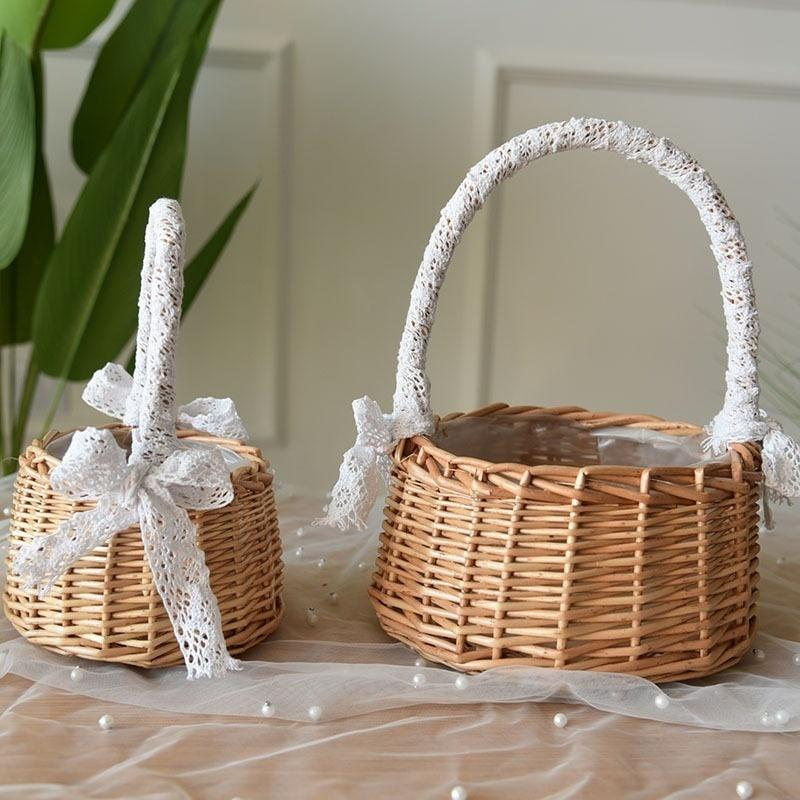 baby bird duck woven wicker storage toy box with lid and handles kids bedroom decor