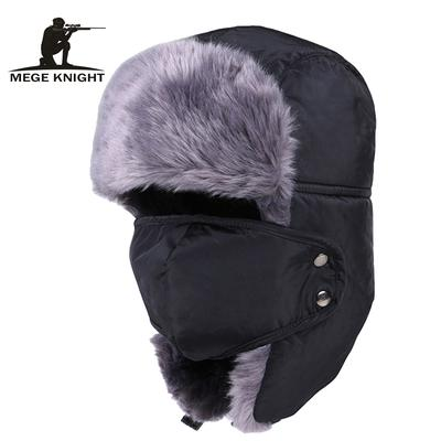 Women Men Faux Fur Trapper Hat Earflap Beanie Hat with Cartoon Antlers Russia Cossack Hat Warm Winter Furry Thermal Caps Ski Snowboarding Hat with Black Headband