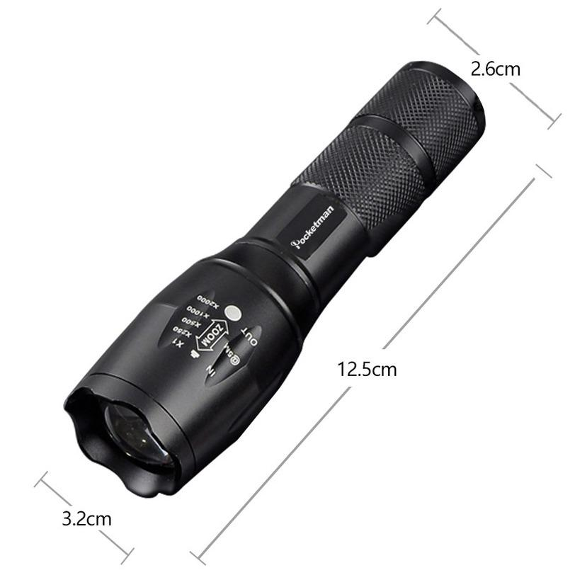 XINSITE 8802 1000LM 10W T6 LED Flashlight Zoomable 5 Modes Waterproof Torch #K