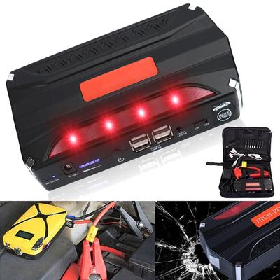 Multifunctional 68800mAH 12V 4 USB Portable Mini Car Jump Starter Power Bank For Emergency Start Chargable Battery