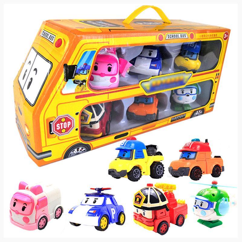 Робот автомобиль Робот автомобиль Преобразование игрушки Robocar Box Лучшие подарки для детей фото