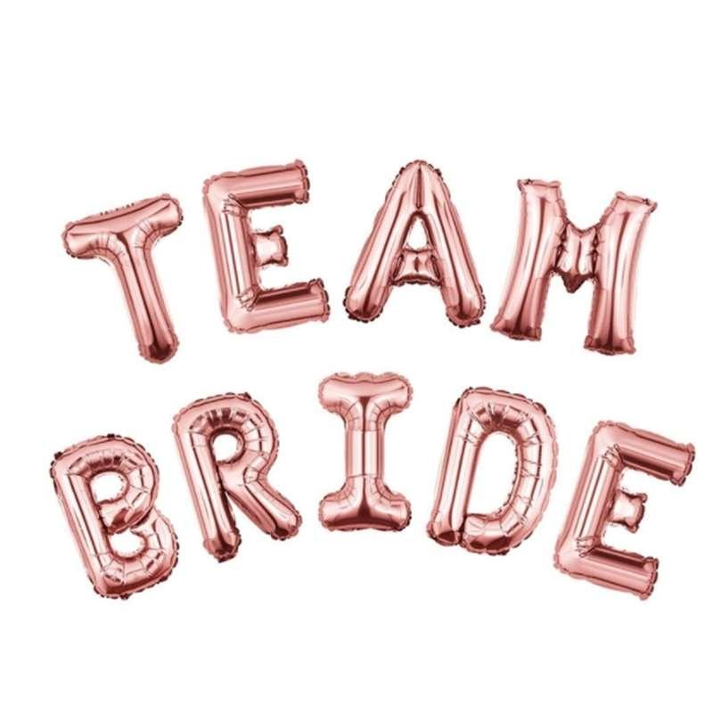 Hen Party Team Bride Mrs To Be Engaged Foil Latex Helium Balloon Wedding Decor