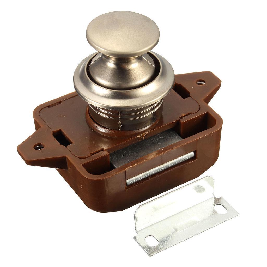 Cabinet Lock Keyless Twist Button Cabinet Latch RV Marine Boat Cupboard