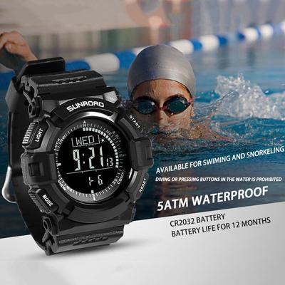 0ed016478f95 Bellas hombres multifuncionales SUNROAD artesanal reloj de pulsera  electrónico Digital de deporte al aire libre en