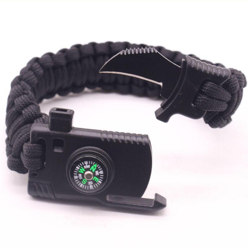 multifonctionnel Parapluie Bracelet durgence Escape Bracelet 550/Paracorde Camping outils