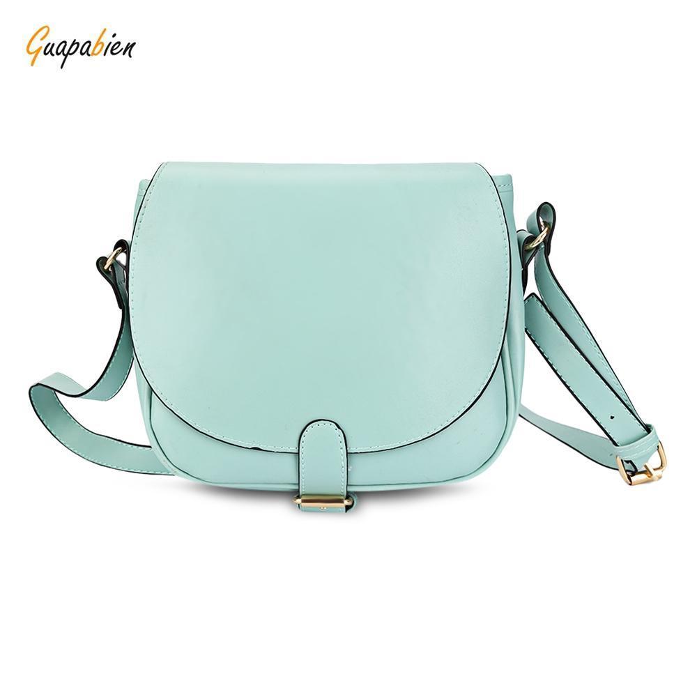cda39d8df3 Crossbody bag guapabien stylish ellipse shape pure color multifunctional  strap women bucket bag