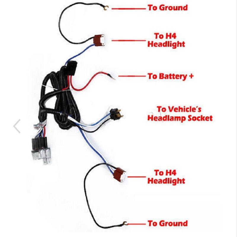 H4 Headlight Headlamp Light Bulb Relay Wiring Harness Socket Plug Wire Kit-buy  at a low prices on Joom e-commerce platformJoom