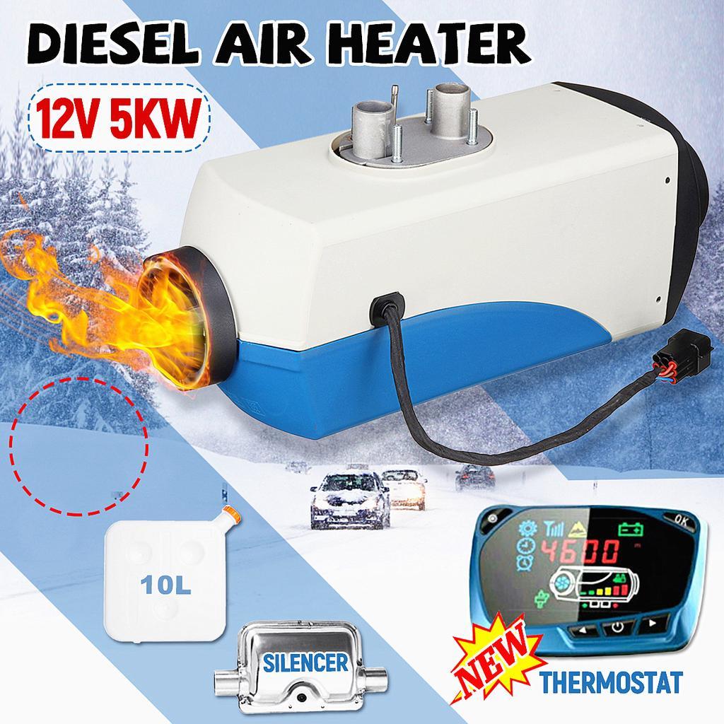 DC 12V 2KW Diesel Air Parking Heater W//Silencer for RV Motorhome Trailer Trucks Boats Diesel Air Heater