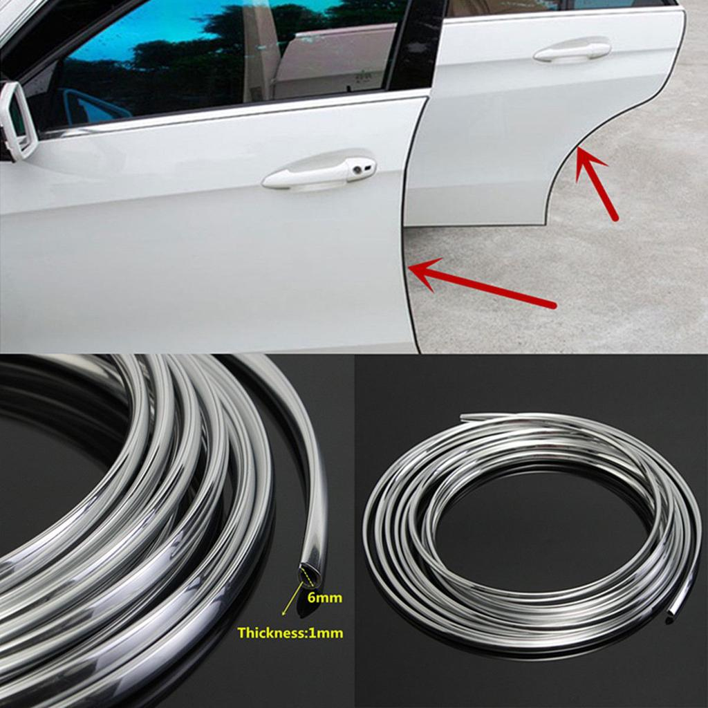 16FT//5M Car Door Edge Scratch Anti-collision Protector Moulding Strip Guard Trim