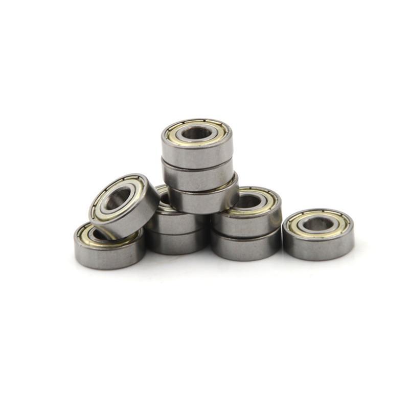 10Pcs Mini Bearing Steel Bearing Rolling Ball Bearings MR63ZZ 3X6X2.5mm P*