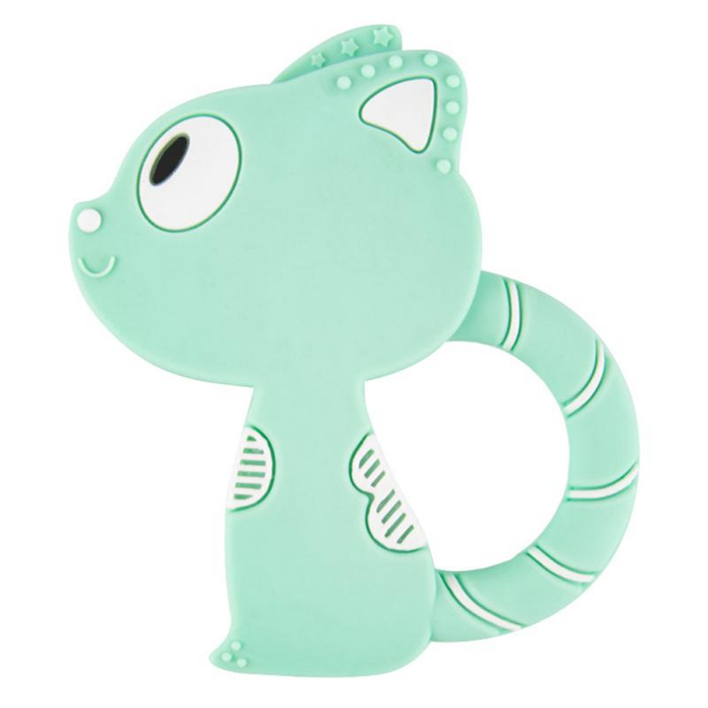 Silicone Baby Teether Molar Toy Cartoon Turtle Shape Teether Pendant Baby Care